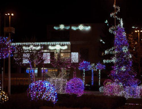 Коледна декорация Панагюрище 2018