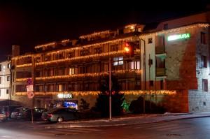Коледна декорация - хотел Мура, гр. Банско 2017г